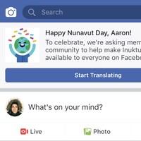 Facebook Canada annonce la traduction de sa plateforme en langue inuite.
