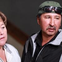 Les parents de Jennifer Catcheway, Bernice et Wilfried Catcheway.