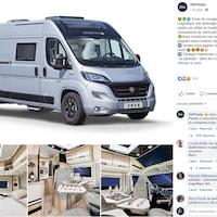 Il s'agit d'une publication Facebook contenant plusieurs photos d'un véhicule récréatif.