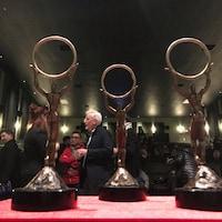 Les Cercles d'or qui sont remis lors de la cérémonie de clôture du Festival cinéma du monde de Sherbrooke.