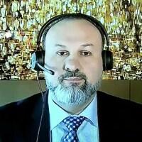 Le président-directeur général de MindGeek, Feras Antoon, devant le Comité permanent de l'accès à l'information, de la protection des renseignements personnels et de l'éthique du Parlement du Canada.