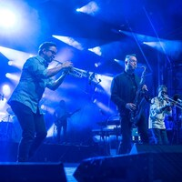 Le groupe The Brooks sur scène.