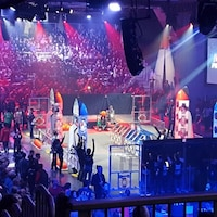 Une compétition de robotique se tient dans le Stade olympique de Montréal.