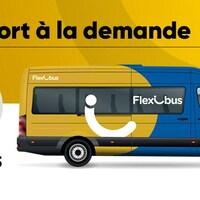 Une représentation des fourgonnettes huit places utilisées pour le service Flexibus.