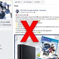 La page Facebook a la même photo de profil que la vraie page Facebook du FM 103,3.