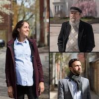 Rémi Francoeur, Robert Perreault et Emily Lavertu