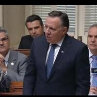 François Legault prend la parole durant la période des questions à l'Assemblée nationale.