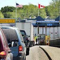 Un poste de frontière.