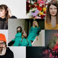 Les artistes Caroline Savoie, Chloé Breault, Joey Robin Haché, Matt Boudreau et le groupe les Hay Babies.