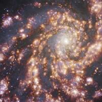 NGC 4254 vue avec MUSE de l'ESO dans plusieurs longueurs d'onde de lumière.