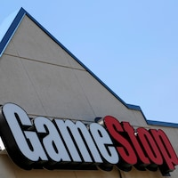 Une enseigne d'un magasin de la compagnie GameStock.