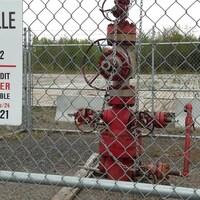Un puits de gaz de schiste de Leclercville.