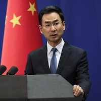 Le porte-parole du ministère des Affaires étrangères Geng Shuang.