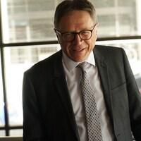 Le maire de Lévis, Gilles Lehouillier, en marge d'une rencontre politique au sujet du 3e lien entre sa ville et Québec