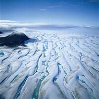 Photo prise par Roberta Bondar d'un glacier au parc national Quttinirpaaq, sur l'île d'Ellesmere, au Nunavut.