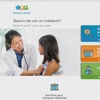 Une image de la plateforme web où les patients peuvent prendre un rendez-vous.