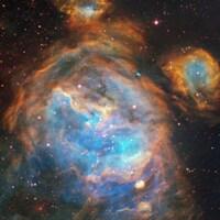 Région du Grand Nuage de Magellan peuplée d'étoiles nouvellement formées.