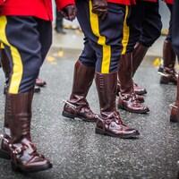 Bottes d'agents de la Gendarmerie royale du Canada.