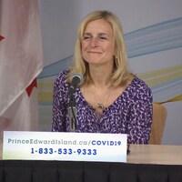 La médecin hygiéniste en chef de l'Île-du-Prince-Édouard, la Dre Heather Morrison, le vendredi 17 avril 2020.