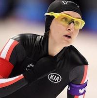 La patineuse de vitesse de Winnipeg, Heather McLean.