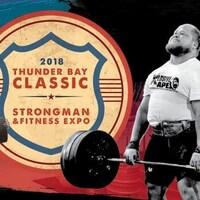 Poster de compétition de force physique.