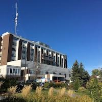 Le bâtiment de l'hôpital de Rouyn-Noranda