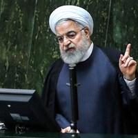 Le président iranien Hassan Rohani s'adresse au Parlement à Téhéran le 3 septembre 2019.