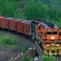 Train de la compagnie Huron Central Railway