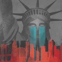 La statue de la Liberté domine la ville de New York.