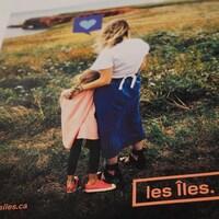 L'une des publicités de la nouvelle campagne de promotion des Îles-de-la-Madeleine.