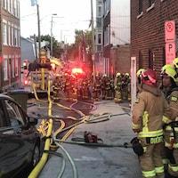 Environ 85 pompiers ont combattu les flammes.