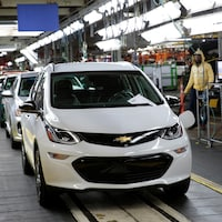 Un véhicule Chevrolet Bolt EV 2018 chez General Motors Orion Assembly à Lake Orion, Michigan.
