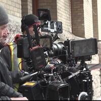Une équipe qui prend part à un tournage.