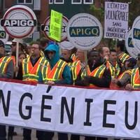 Piquet de grève des ingénieurs