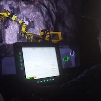 Simulation d'appareils miniers à la fête d'été d'Integra Gold à Val-d'Or
