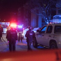 La scène de crime sur la rue de la Concorde, dans Limoilou.