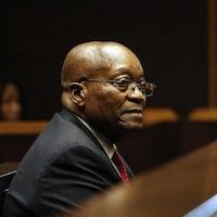 Jacob Zuma sur le banc des accusés.