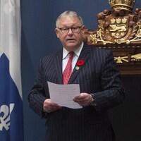 Jacques Chagnon, président de l'Assemblée nationale du Québec, le 31 octobre 2017