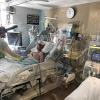Jacques Goupil est demeuré sous respirateur pendant près de 40 jours.