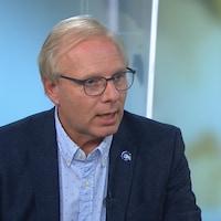Jean-François Lisée en entrevue à l'émission « Les coulisses du pouvoir ».
