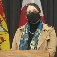 La médecin hygiéniste en chef, la Dre Jennifer Russell, le 18 février 2021.