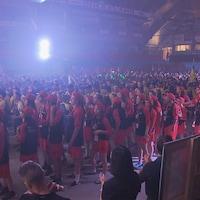 Des milliers de jeunes étaient réunis pour la cérémonie d'ouverture vendredi soir à Thetford Mines.