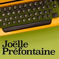 De style photomaton, trois photos de Joëlle Préfontaine, comédienne et directrice artistique de L'UniThéâtre à Edmonton.
