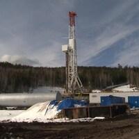 Le puits Galt numéro 4, situé à une vingtaine de kilomètres de Gaspé.
