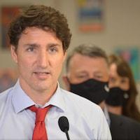 Le premier ministre du Canada, Justin Trudeau, à l'Île-du-Prince-Édouard, le 27 juillet 2021.