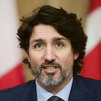Gros plan de Justin Trudeau.