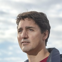 Plan rapproché de Justin Trudeau.
