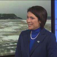 Karine Trudel en entrevue.