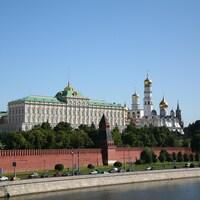 Vue sur le Kremlin, à Moscou.