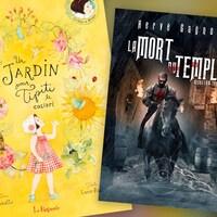 Des petits aux plus grands, voici deux livres très différents qui sauront vous faire rêver. Un bel album jeunesse jaune et un roman où l'on aperçoit (sur la couverture) un templier vieillissant.